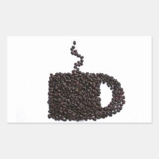Coffee Lover Unique Personalized Gift Present Rectangular Sticker