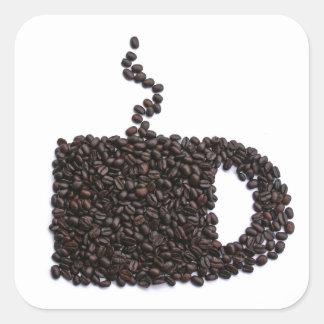 Coffee Lover Unique Personalized Gift Present Square Sticker