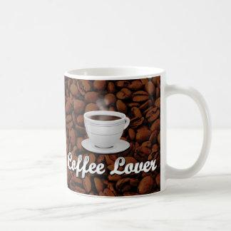 Coffee Lover, White Cup/Brown Beans Coffee Mug