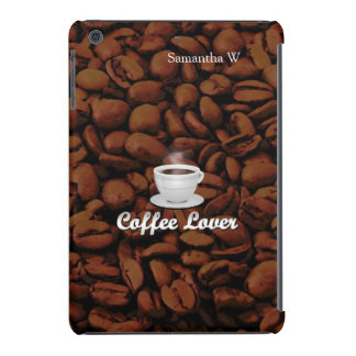 Coffee Lover, White Cup/Brown Beans iPad Mini Retina Case