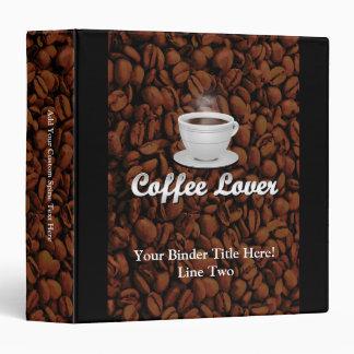 Coffee Lover, White Cup/Brown Beans Vinyl Binder