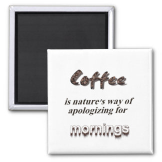 Coffee Lovers 2 Inch Square Magnet