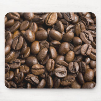 Coffee Lovers Beans Brown Background Mouse Pad
