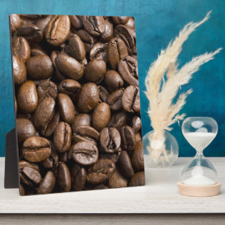 Coffee Lovers Beans Brown Background Plaque