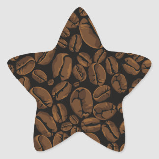 Coffee Lovers Beans Galore Design Star Sticker
