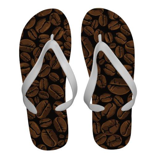 Coffee Lovers Beans Galore Flip Flops Design