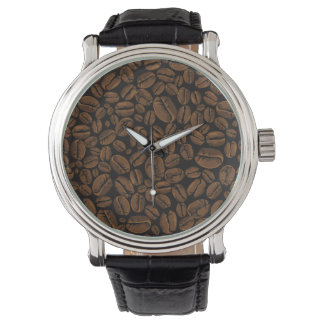 Coffee Lovers Beans Galore Wristwtch Design Wristwatch