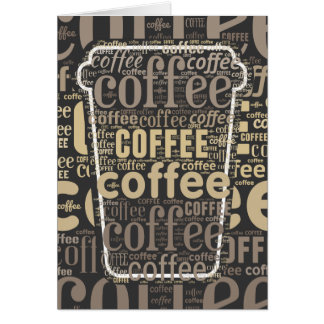 Coffee Lovers Big Cup Word Art Card