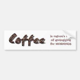 Coffee Lovers Bumper Sticker
