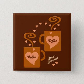 Coffee Lovers button, customize Button