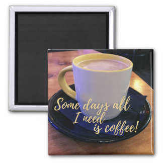 Coffee Lovers Cup and Saucer Photograph Magnet