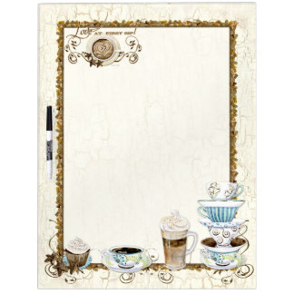 Coffee Lovers Family Message Board with Cups n Mug