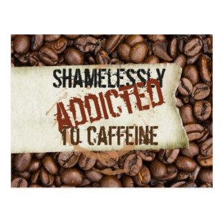 Coffee lovers humor postcard