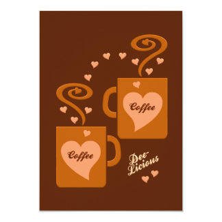 Coffee Lovers invitation, customize Card