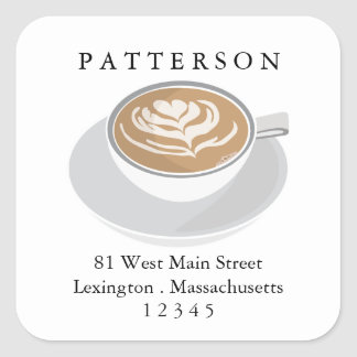 Coffee Lover's Latte Return Address Label