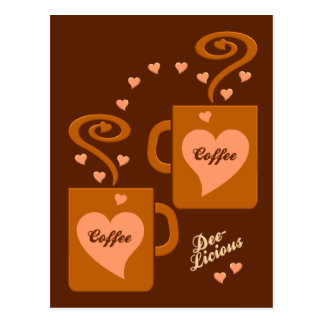Coffee Lovers postcard, customize Postcard
