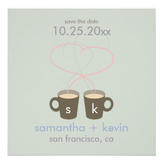 Coffee Lovers Save the Date Announcements