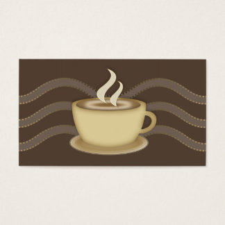 Coffee Lovers Social Profile Business Card