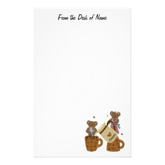 Coffee Lovers Teddy Stationary Stationery