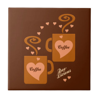 Coffee Lovers tile, customize Tile