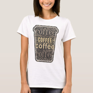 Coffee Lovers Travel Cup Word Art T-Shirt