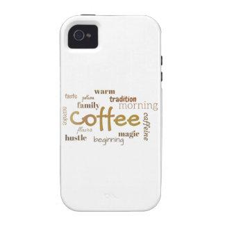 Coffee Lovers Typographic Design iPhone 4/4S Case
