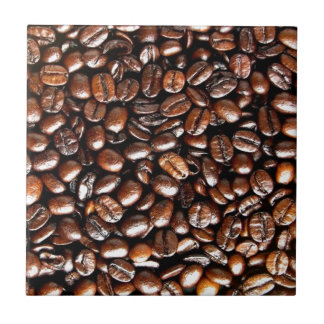 Coffee Lovers Whole Bean Collage Ceramic Tile