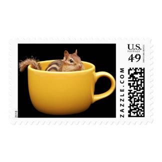 Coffee Loving Chipmunk Postage