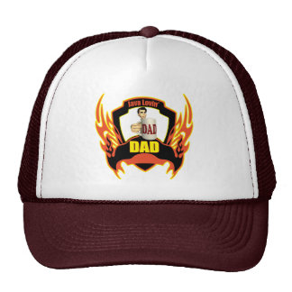 Coffee Loving Dad Fathers Day Gifts Trucker Hat