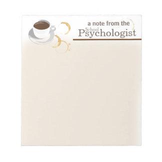 Coffee Loving School Psychologist Note Pad