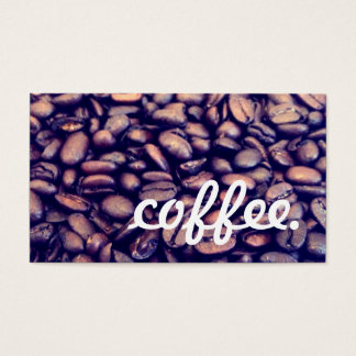 coffee loyalty business card