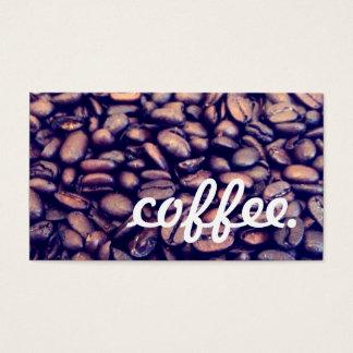 coffee loyalty business card