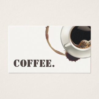 Coffee Loyalty Card | Coffee Cup & Stains