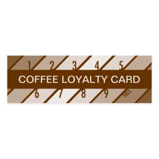 coffee loyalty card (retrograde) business cards