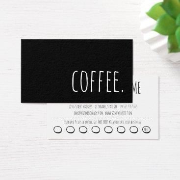 Coffee Themed coffee loyalty punch card