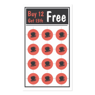 Coffee Loyalty Punch Card Business Card