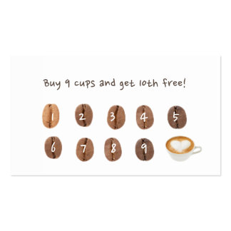 Coffee Loyalty Punch Simple Plain Business Card