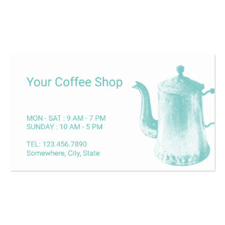 Coffee Loyalty Punch Vintage Coffee Pot Business Card