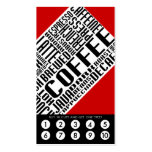 coffee loyalty (wordWEBs) Double-Sided Standard Business Cards (Pack Of 100)