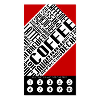 coffee loyalty (wordWEBs) Business Card