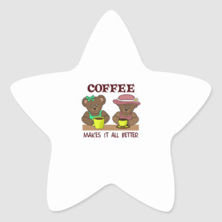 COFFEE MAKES IT BETTER STAR STICKERS