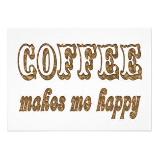 Coffee Makes Me Happy Personalized Invite
