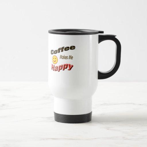 coffee makes me happy 15 oz stainless steel travel mug