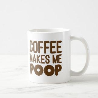 Coffee Makes Me Poop Mug Brown Text