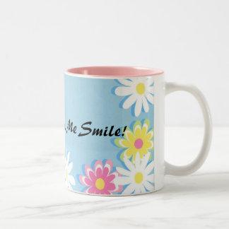 Coffee Makes Me Smile Two-Tone Coffee Mug