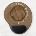 Coffee Makes The Geeks Go Round Gel Mouse Pad