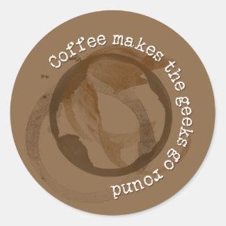 Coffee Makes The Geeks Go Round Sticker