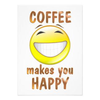 Coffee Makes You Happy Invites