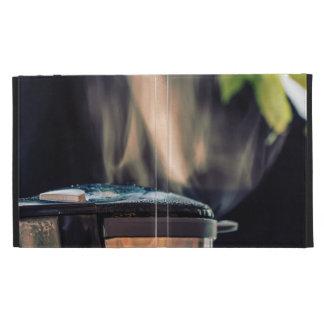 Coffee making iPad folio cover
