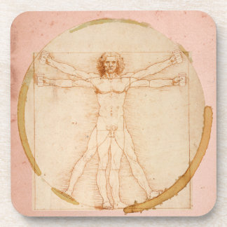 coffee man-from Da Vinci's Vitruvian Man Coaster